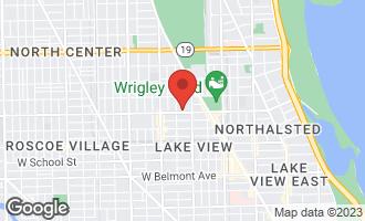 Map of 3608 North Magnolia Avenue #2 CHICAGO, IL 60613