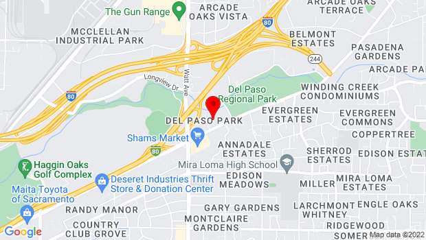 Google Map of 3615 Auburn Boulevard, Sacramento, CA 95821