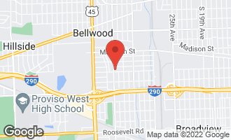Map of 3615 Jackson Street 1A BELLWOOD, IL 60104