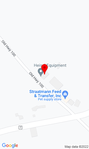 Google Map of Heisel Equipment Company 3623 Old Hwy 100, Labadie, MO, 63055