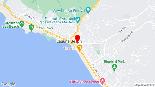 Google Map of 363 Glenneyre Street, Laguna Beach, CA 92651