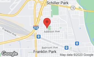 Map of 3646 Sunset Lane FRANKLIN PARK, IL 60131