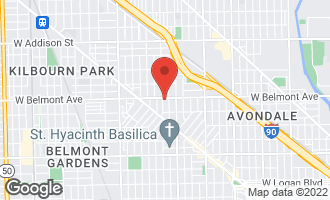 Map of 3649 West Belmont Avenue 3E Chicago, IL 60618