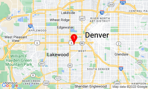 Google Map of 365 Stuart St Denver, CO, 80219