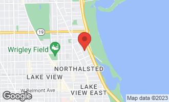 Map of 3660 North Lake Shore Drive #2707 CHICAGO, IL 60613