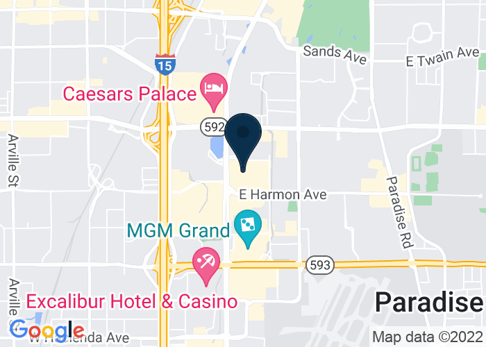 Map of 3667 S Las Vegas Blvd, Las Vegas, NV 89109, United States