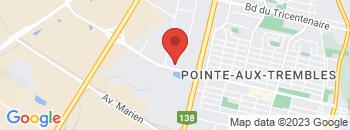 Google Map of 3673+BOUL.+ST-JEAN-BAPTISTE%2CPointe-Aux-Trembles%2CQuebec+H1B+4B2
