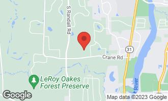Map of 36W722 Crane Road ST. CHARLES, IL 60175