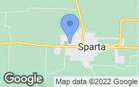 Map of Sparta, MO