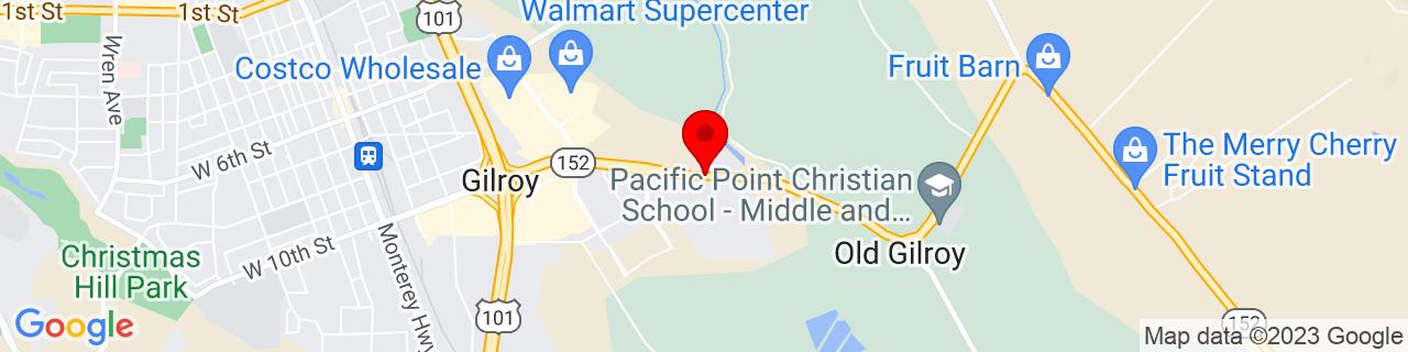 Google Map of 37.0032232, -121.5406676