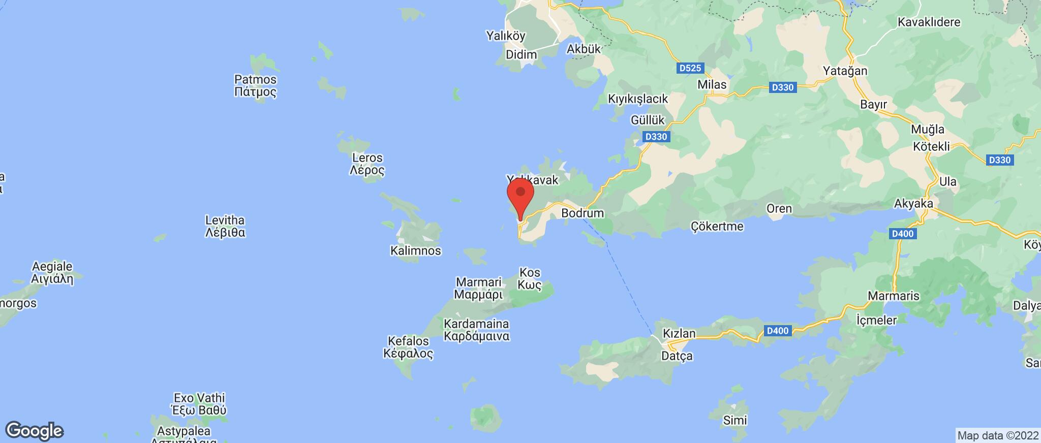 Map showing the location of Turgutreis