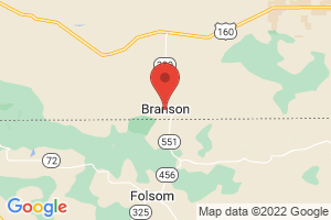 Map of Branson and Tri-Lakes Area
