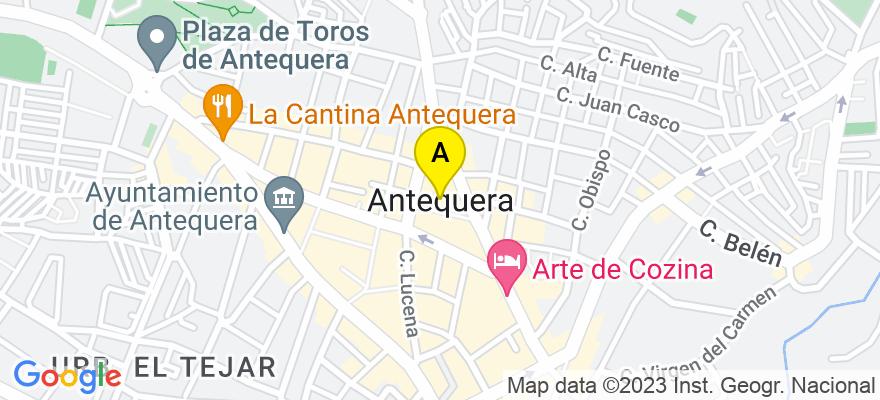 situacion en el mapa de . Direccion: Plaza Fernández Viagas bloque 2, local 5, 29200 Antequera. Málaga