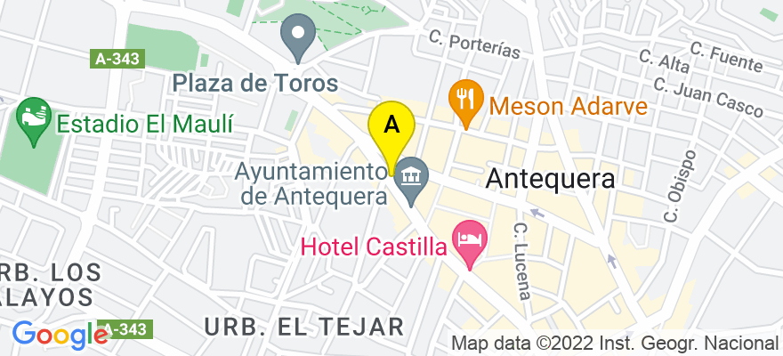situacion en el mapa de . Direccion: C/ Infante Don Fernando, 80 - 1ª, 29200 Antequera. Málaga