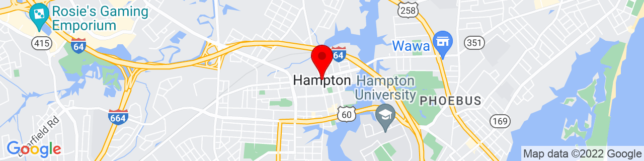 Google Map of 37.0298687, -76.34522179999999