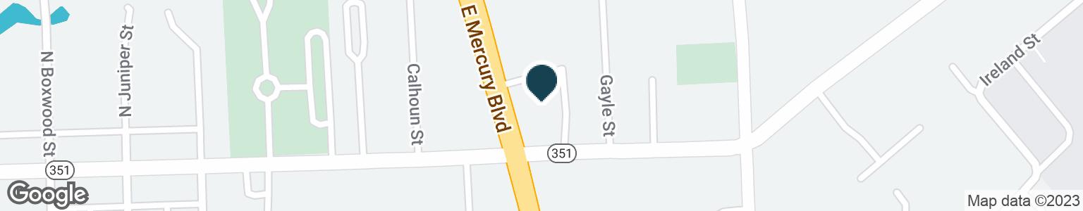 Google Map of235 E MERCURY BLVD