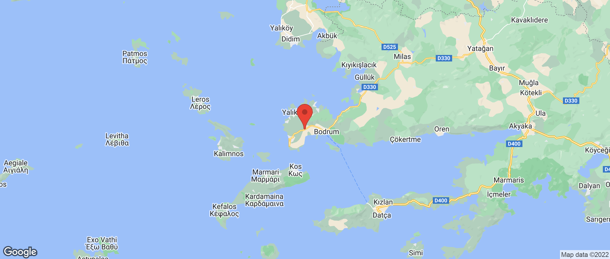 Map showing the location of Ortakent