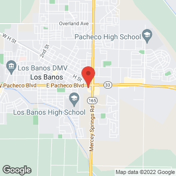Map of Rite Aid at 1317 East Pacheco Boulevard, Los Banos, CA 93635