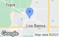 Map of Los Banos, CA