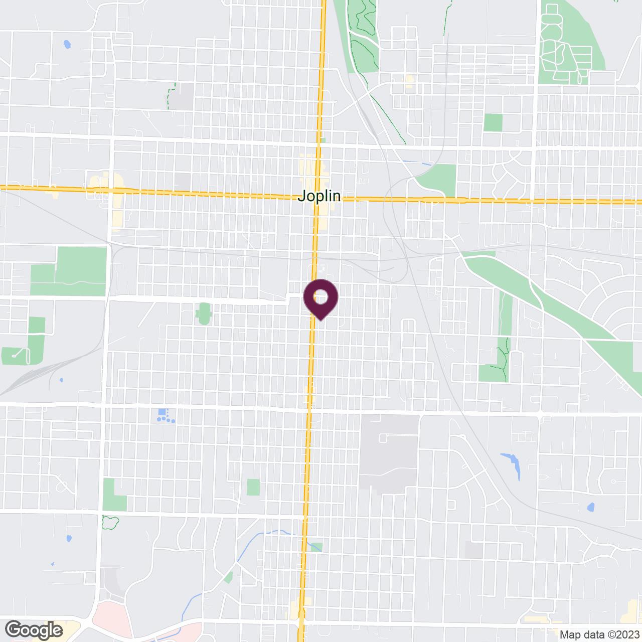 Google Maps static image of  Joplin