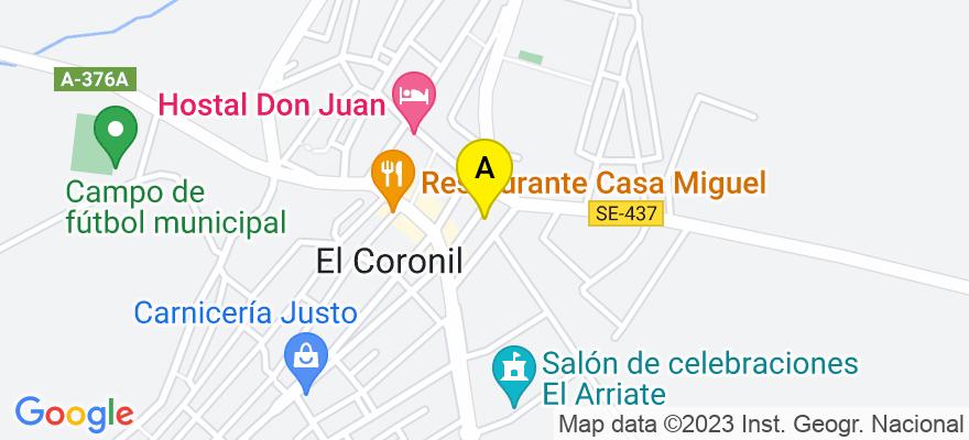 situacion en el mapa de . Direccion: C/ DAOIZ Nº 15, BAJO, 41003 Sevilla. Sevilla