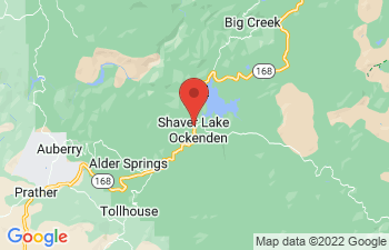 Map of Shaver Lake