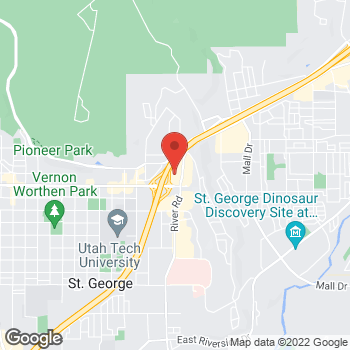 Map of Staples at 245 Red Cliffs Drive, St George, UT 84790