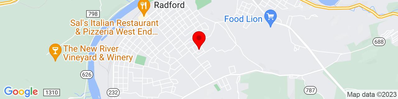 Google Map of 37.1231816, -80.5667247
