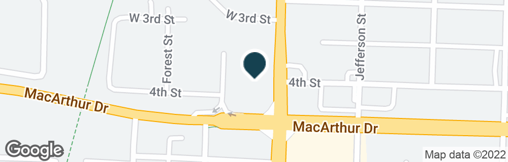 Google Map of1011 W MACARTHUR DR