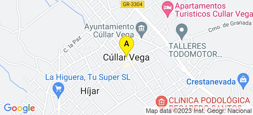 situacion en el mapa de . Direccion: Cullar vega, 18195 Granada. Granada