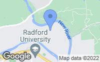 Map of Radford, VA