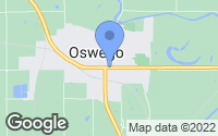 Map of Oswego, KS
