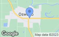 Map of Oswego, KS