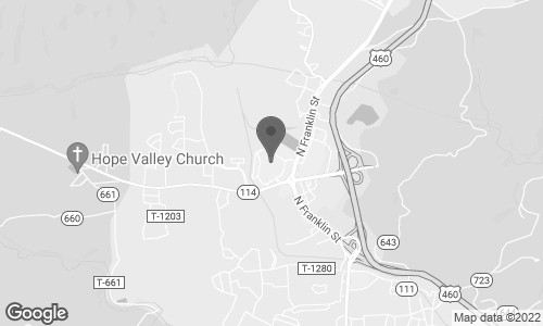 Map of 744 New River Road in Christiansburg