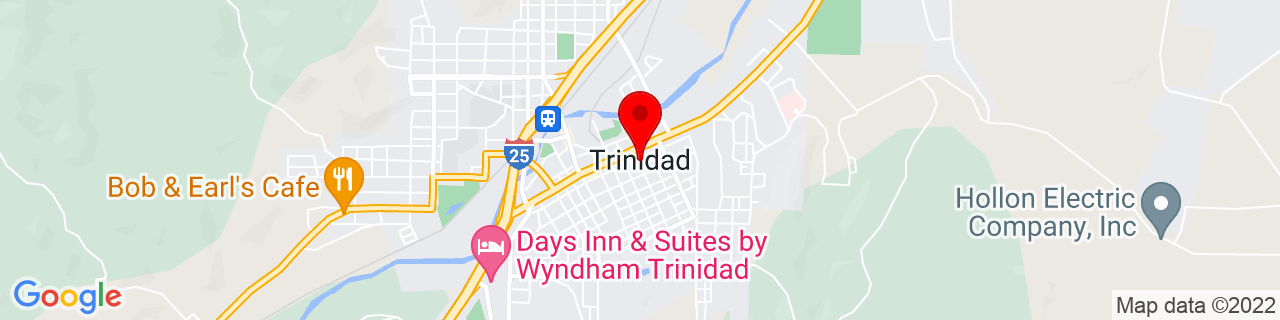 Google Map of 37.169444444444444, -104.50055555555555