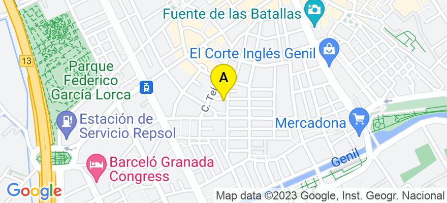 situacion en el mapa de . Direccion: calle conde de cifuentes 31 1º d, 18005 Granada. Granada