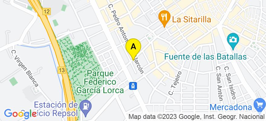 situacion en el mapa de . Direccion: Ancha de Gracia 9, 1º C, 18004 Granada. Granada