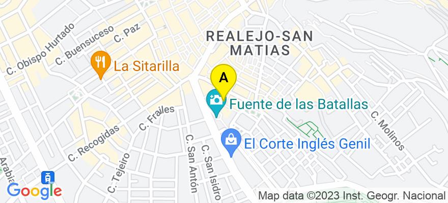 situacion en el mapa de . Direccion: Plaza del Campillo 2, 4º G, 18009 Granada. Granada