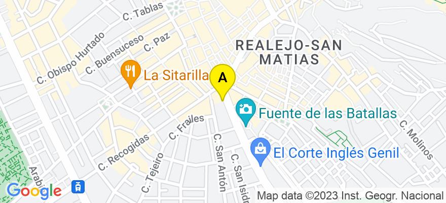 situacion en el mapa de . Direccion: PUERTA REAL DE ESPAÑA NUMERO 1, 3ª PLANTA, 18009 Granada. Granada