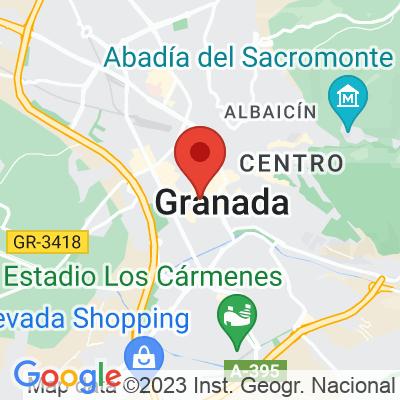 Map showing La Tienda de los Unicornios