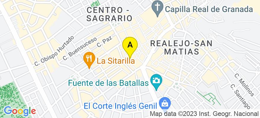 situacion en el mapa de . Direccion: C/ Alhóndiga, 6, 5º C, 18001 Granada. Granada
