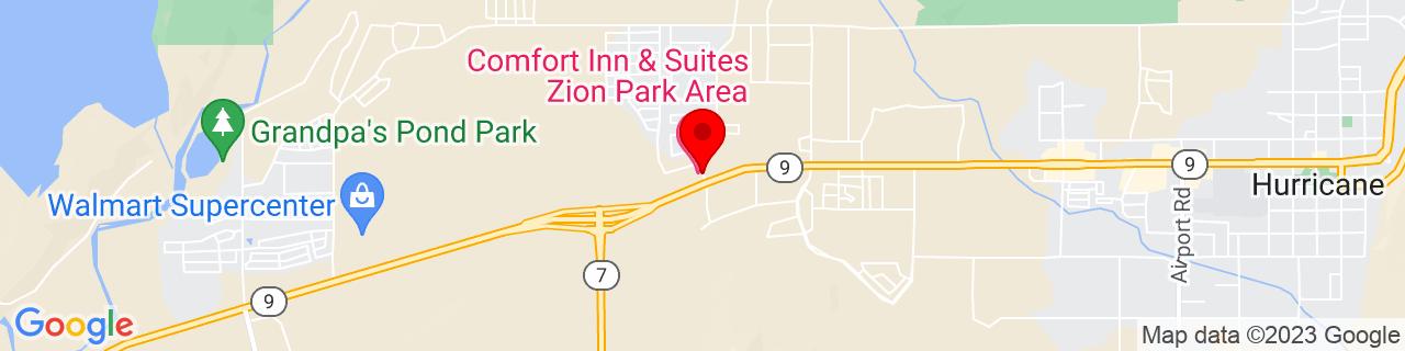 Google Map of 37.1758262, -113.338013