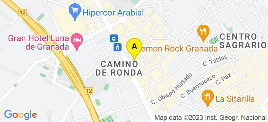 situacion en el mapa de . Direccion: Camino de Ronda,191. Despacho 5, 18003 Granada. Granada