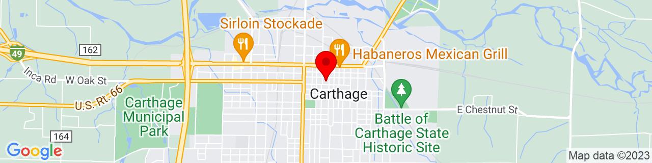Google Map of 37.176447, -94.31022279999999