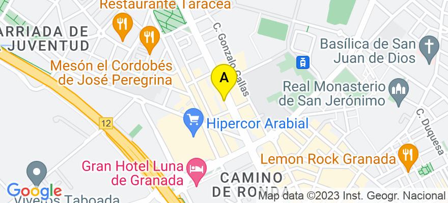 situacion en el mapa de . Direccion: Camino de Ronda, 133, 18003 Granada. Granada