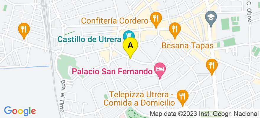 situacion en el mapa de . Direccion: Catalina de perea, 21, 41710 Utrera. Sevilla