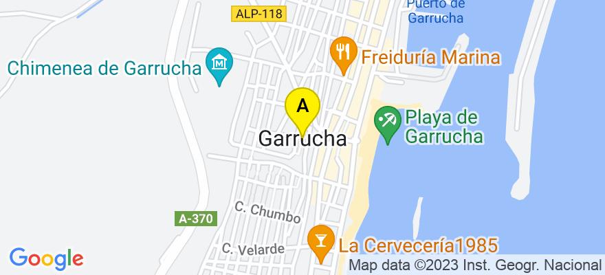 situacion en el mapa de . Direccion: C/Mayor nº143 Edificio Bamar, 04630 Garrucha. Almería