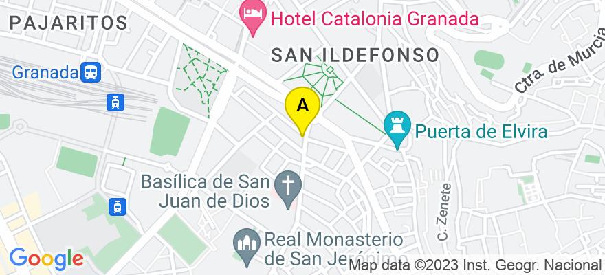 situacion en el mapa de . Direccion: C/ San Juan de Dios, 49, 18001 Granada. Granada