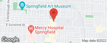 Map of 1722 S Glenstone Ave in Springfield