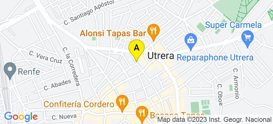 situacion en el mapa de . Direccion: Alcalde Vicente Giraldez 42 1c, 41710 Utrera. Sevilla